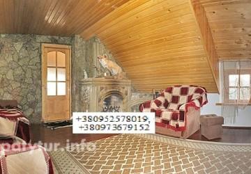 1.1 Яблуница отдельный этаж с камином  6-8 мест, 3 комнаты